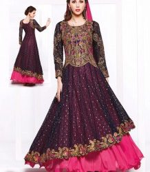 New-Year-Anarkali-Suit-With-Net-Embroidered-Work