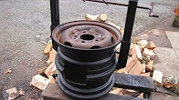 How to make a wood stove from old car wheels