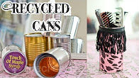 Recycled can craft and art