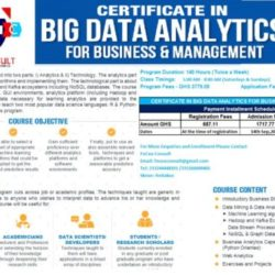CERTIFICATE IN BIG DATA ANALYTICS FOR BUSINESS & MANAGEMENT