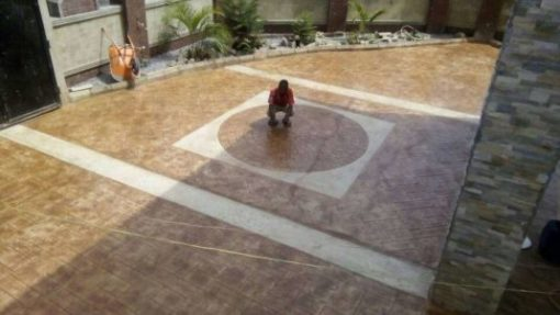 Polished Stamped Concrete Flooring