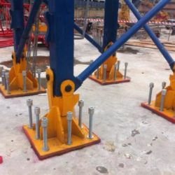 base plate anchoring