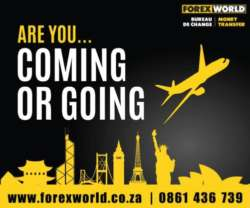 Travelling overseas? Choose Forex World. Call us today