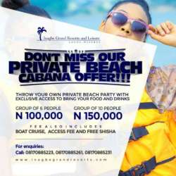 INAGBE CABANA PACKAGE
