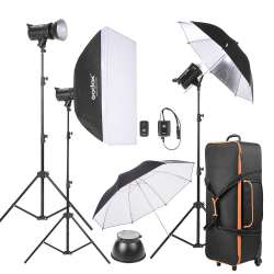 Godox DE300-D 3 300WS Studio Photo Strobe Flash Light Kit