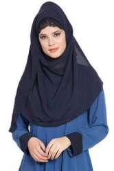 Blue Georgette Hijab(small)